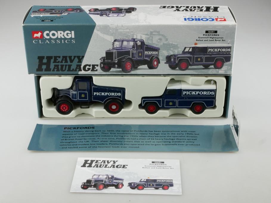 16601 Corgi Classics 1/50 Pickfords Scammel Highwayman & Land Rover m Box 514119