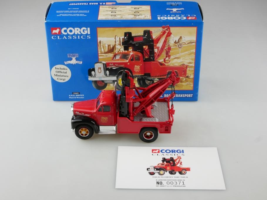 53601 Corgi Classics 1/50 Mack B Wrecker AND Service Abschleppwagen m Box 514120