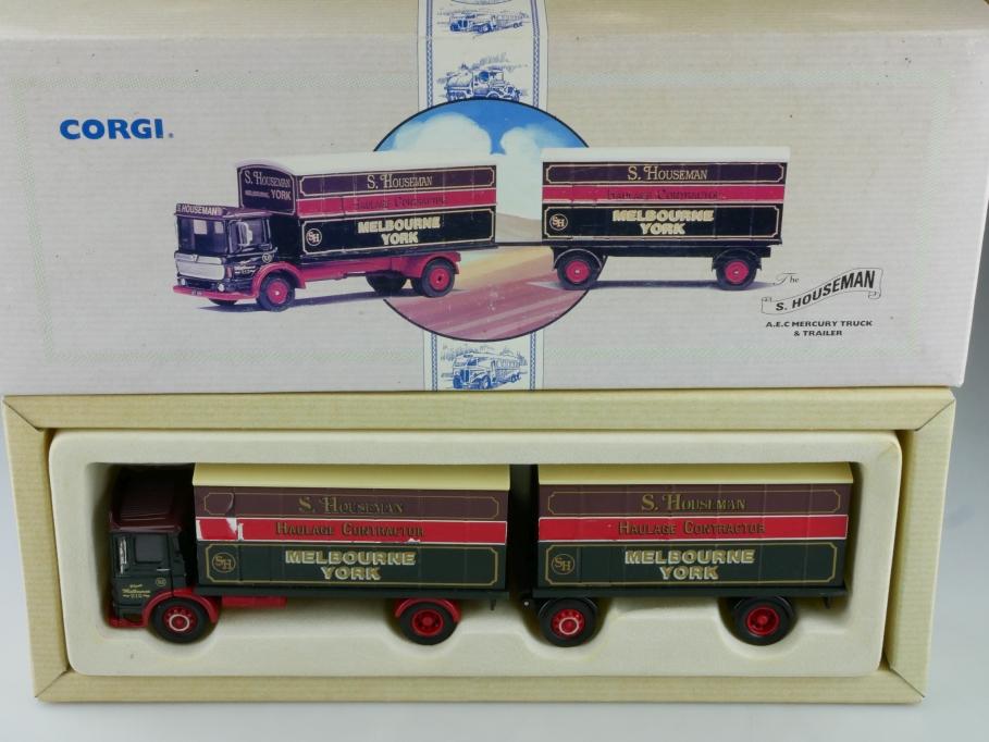 97892 Corgi Classic 1/50 AEC Mercury Truck & Trailer Houseman mit Box 514126