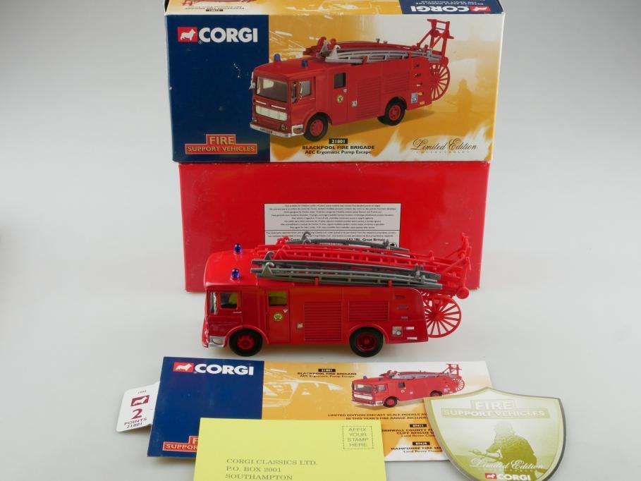 21801 Corgi Limited 1/50 AEC Ergomatic Pump Escape Blackpool Fire Brigade 514140