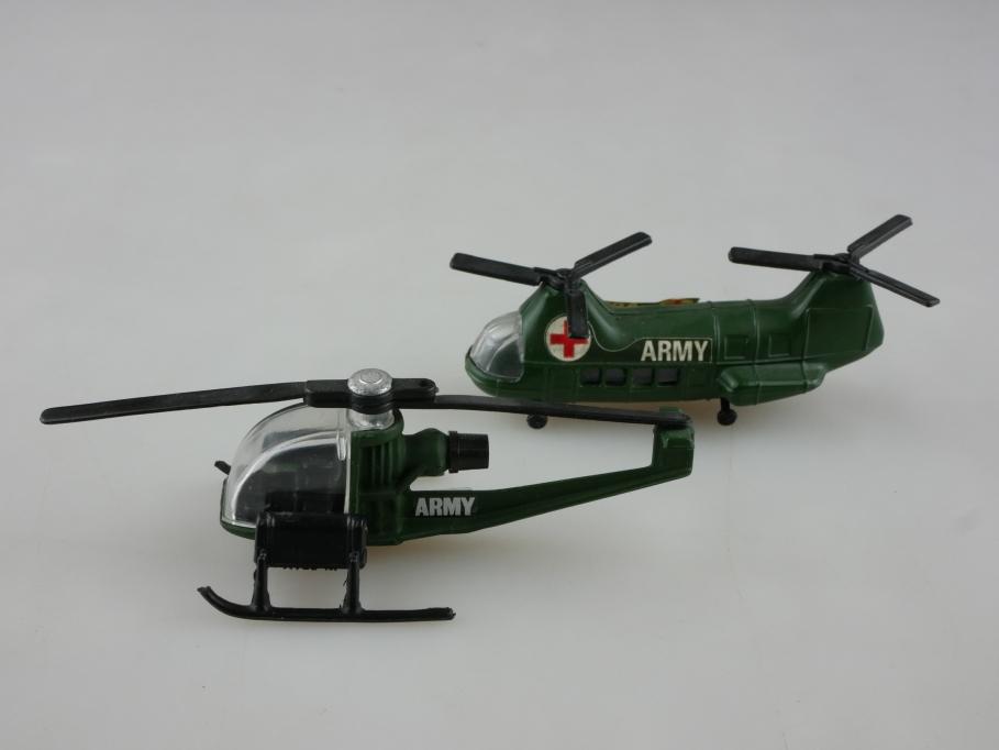 Corgi Juniors 1/87 & 1/200 Airbus Hubschrauber Konvolut ohne Box 514157