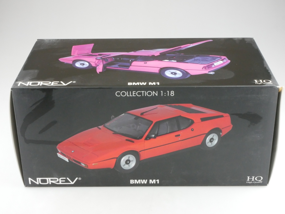 183222 Norev 1/18 BMW M1 Coupe 1980 red mit Box 514238