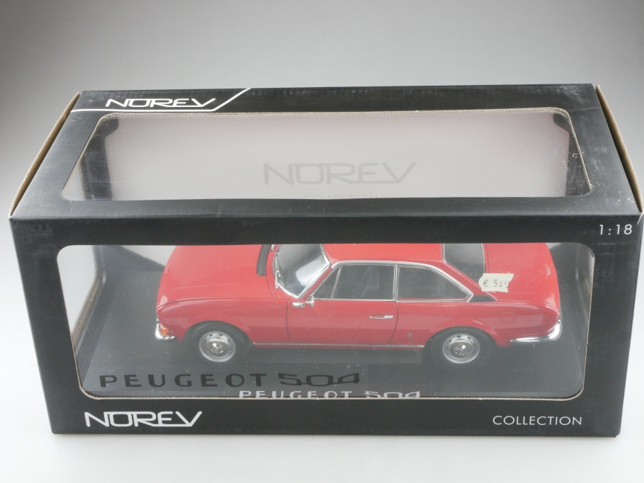 184776 Norev 1/18 Peugeot 504 Coupe 1969 Pininfarina red mit Box 514281