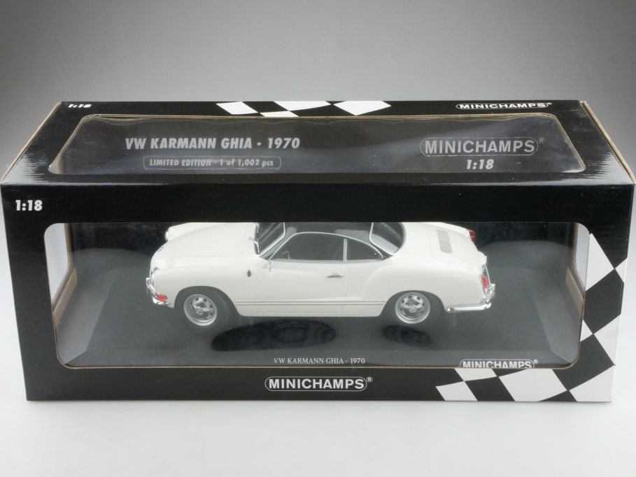 Minichamps 1/18 VW Karmann Ghia Coupe Typ 14 1970 black white limited Box 514292