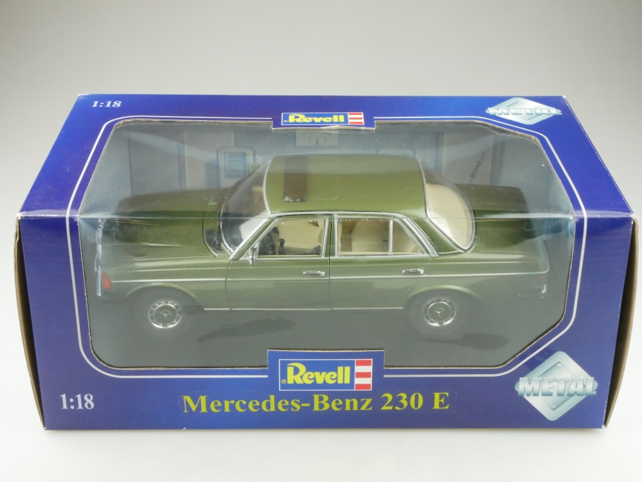 Limited Revell 1/18 Mercedes Benz 230 E W 123 greenmetallic mit Box 514306