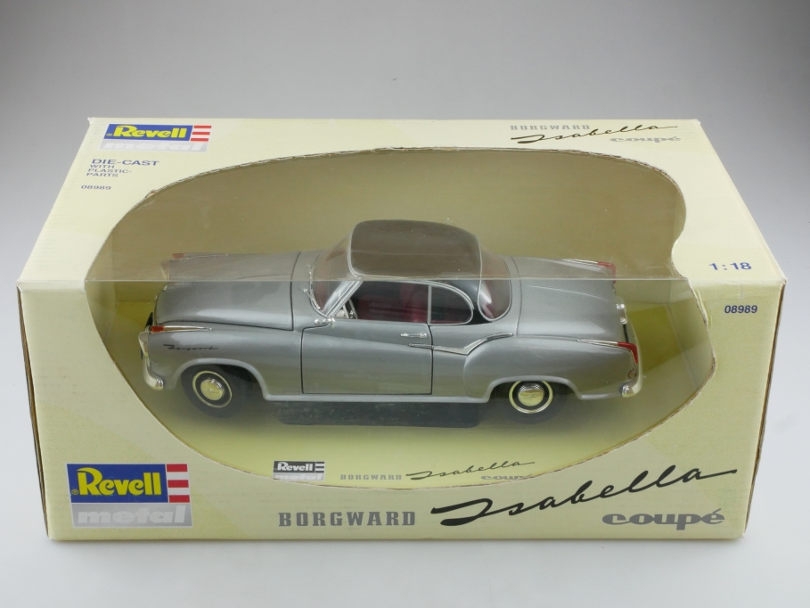 8989 Revell 1/18 Borgward Isabella Coupe 1957 silver black mit Box 514312