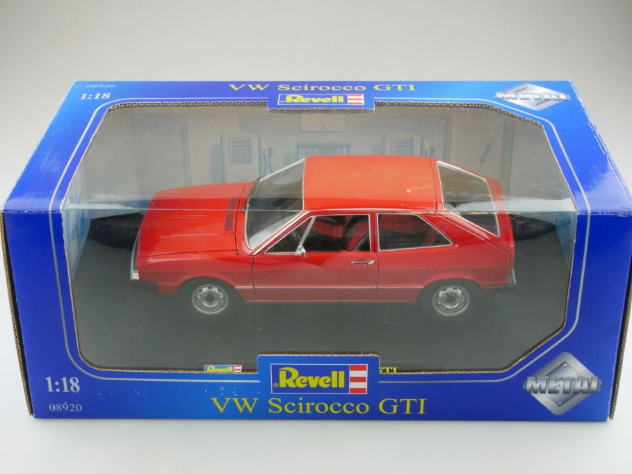 8920 Revell 1/18 VW Scirocco 1 Coupe Volkswagen red 1974 mit Box 514314