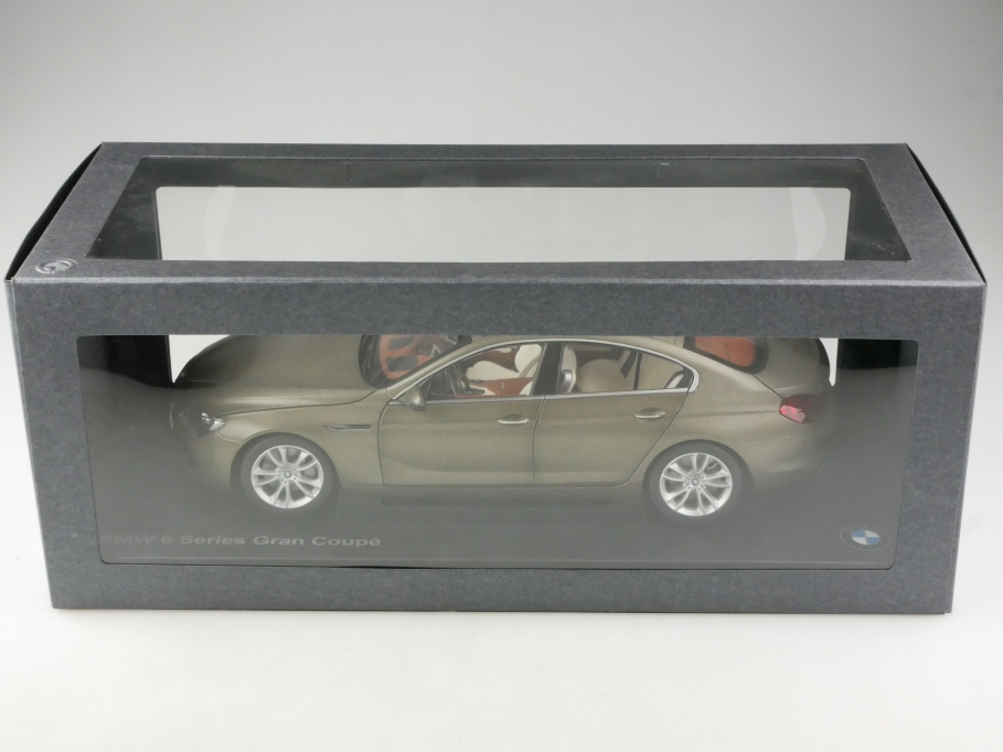 Paragon 1/18 BMW 6 Series gran Coupe frozen bronze Händleredition mit Box 514359