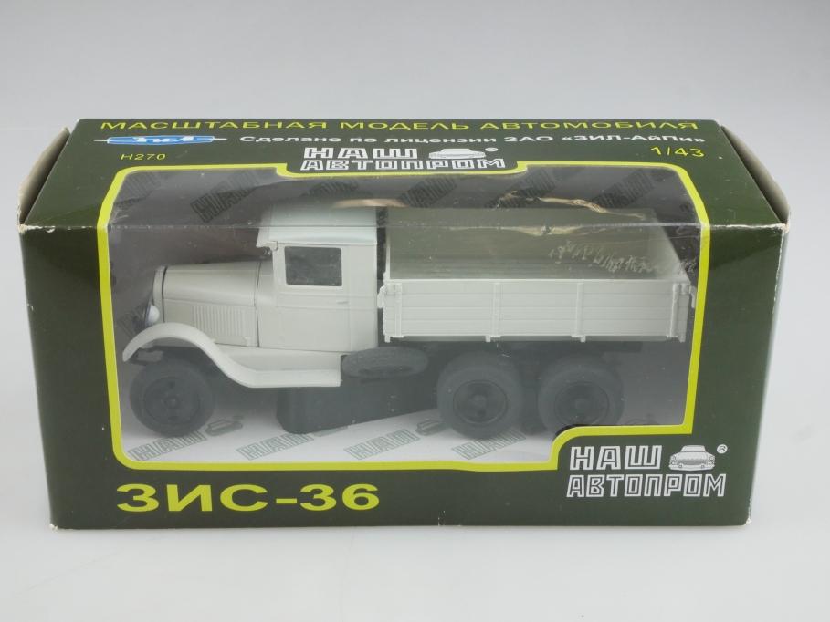 Nashavtoprom 1/43 Ford AA Truck Lizens Zis 36 3 Achs LKW mit Box 514371