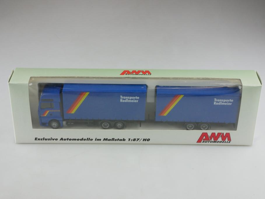 52711.1 AWM 1/87 MAN TGA mit Tandemanhänger Radlmeier Transporte  Box  514388