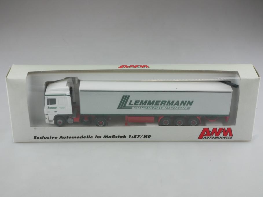 56139.1 AWM 1/87 DAF XF Lemmermann Transporte Werbemodell mit Box 514390