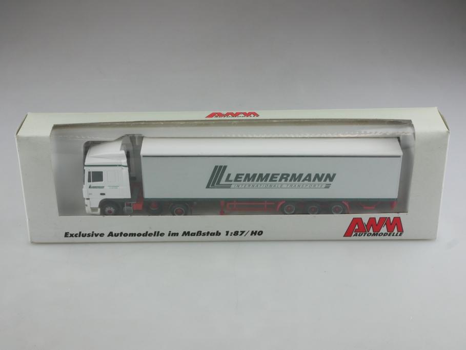 56139.2 AWM 1/87 DAF XF Lemmermann Transporte Werbemodell mit Box 514391