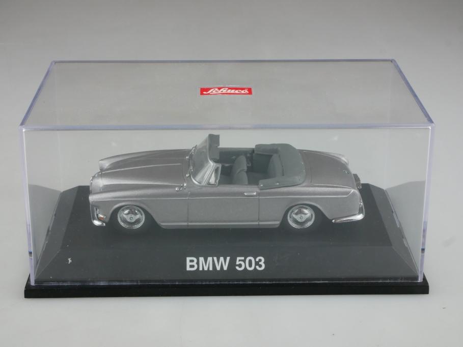 2242 Schuco 1/43 BMW 503 Cabriolet Convertible silver grey 1956 mit Box 514403