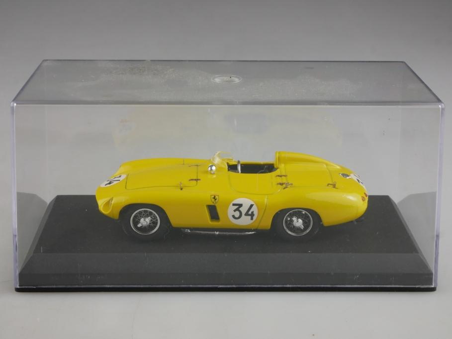Best Model 1/43 Ferrari 750 Monza spa 1955 yellow 34 mit Box 514416