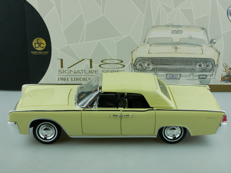 Lucky Die Cast 1/18 Lincoln Continental Convertible 1961 creme mit Box 514427
