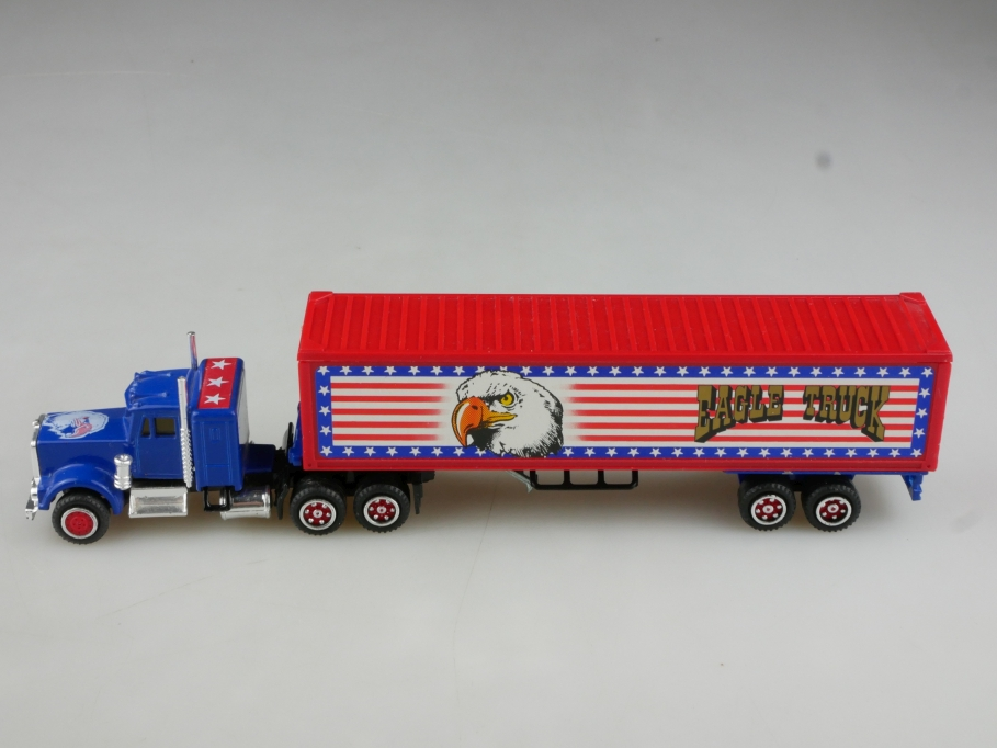Majorette 1/87 Kenworth Eagle Truck & Trailer Kofferlastzug ohne Box 514446