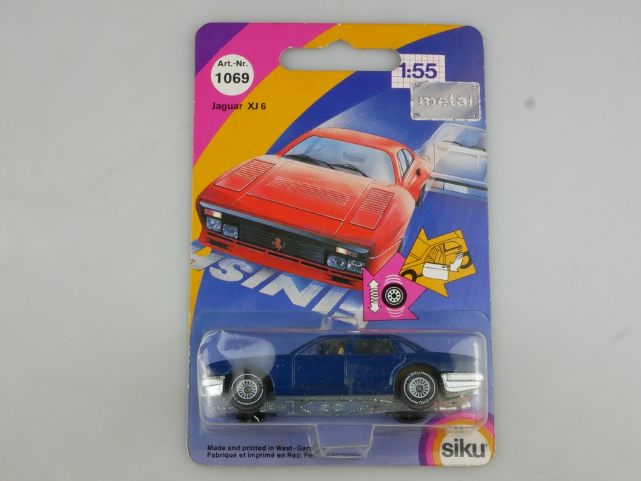 1069 Siku 1/55 Jaguar XJ 6 Saloon blue mit Box 514447