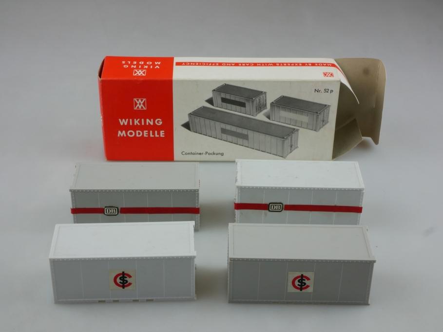 Saure 1346 Wiking 1/87 Container Packung Ersatzteile mit Box 514455