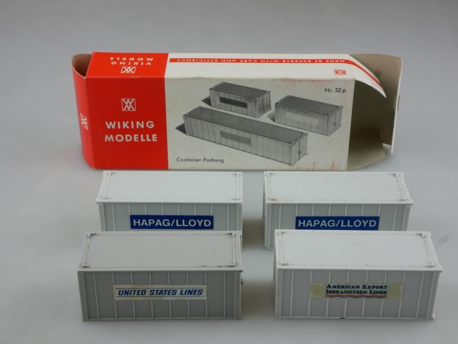 Saure 1346 Wiking 1/87 Container Packung Ersatzteile mit Box 514456