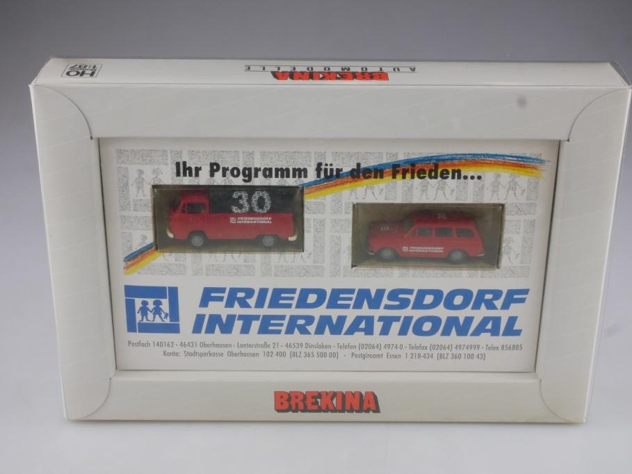 Brekina 1/87 VW T2 Pritsche & Typ 3 Variant Friedensdorf Sonderedi.m. Box 514459