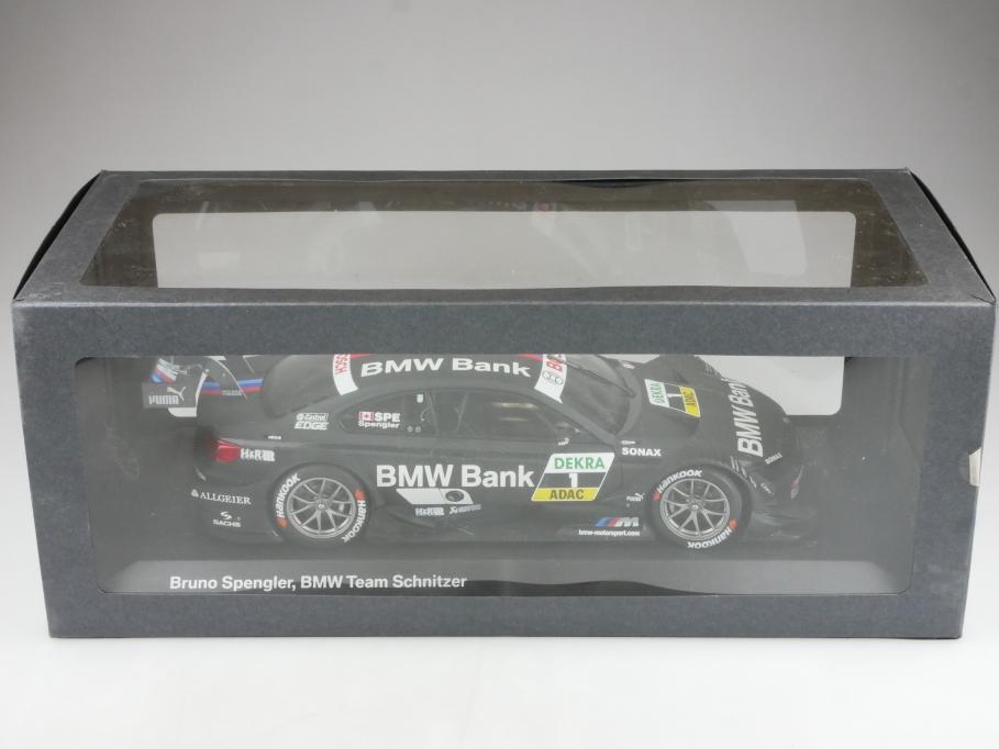 Minichamps 1/18 BMW M3 DTM E 92 Schnitzer Coupe Spengler Bank mit Box 514493