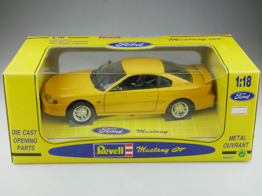 48842 Revell 1/18 Jouef Evolution Ford Mustang GT Coupe yellow mit Box 514499