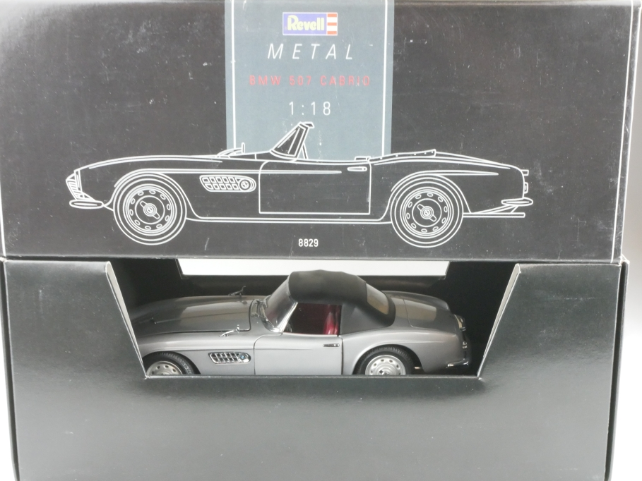 8829 Revell 1/18 BMW 507 Roadster 1957 silbergraumet. Händleredition Box 514519