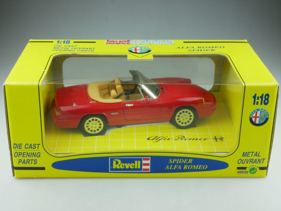 48836 Revell 1/18 Jouef Evolution Alfa Romeo Spider Pininfarina 1992  Box 514543