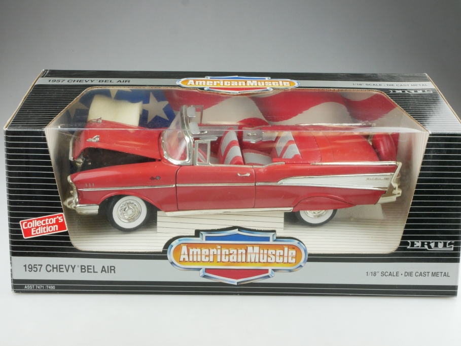 Ertl 1/18 Chevrolet Bel Air Convertible 1957 Cabrio Continrentalkit m.Box 514556