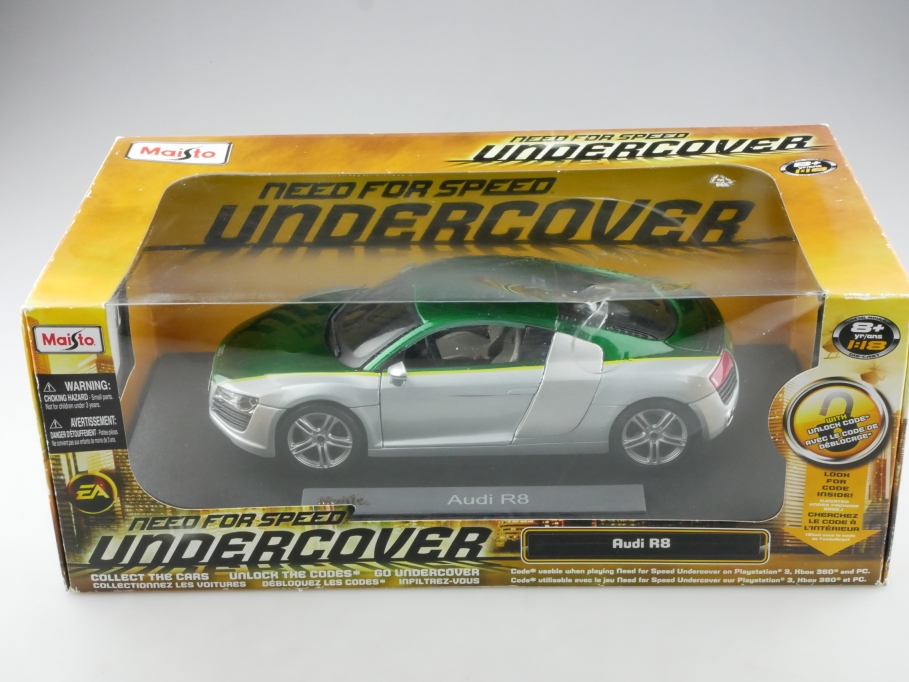 Maisto 1/18 Audi R8 Need for Speed undercover greenmetallic mit Box 514561