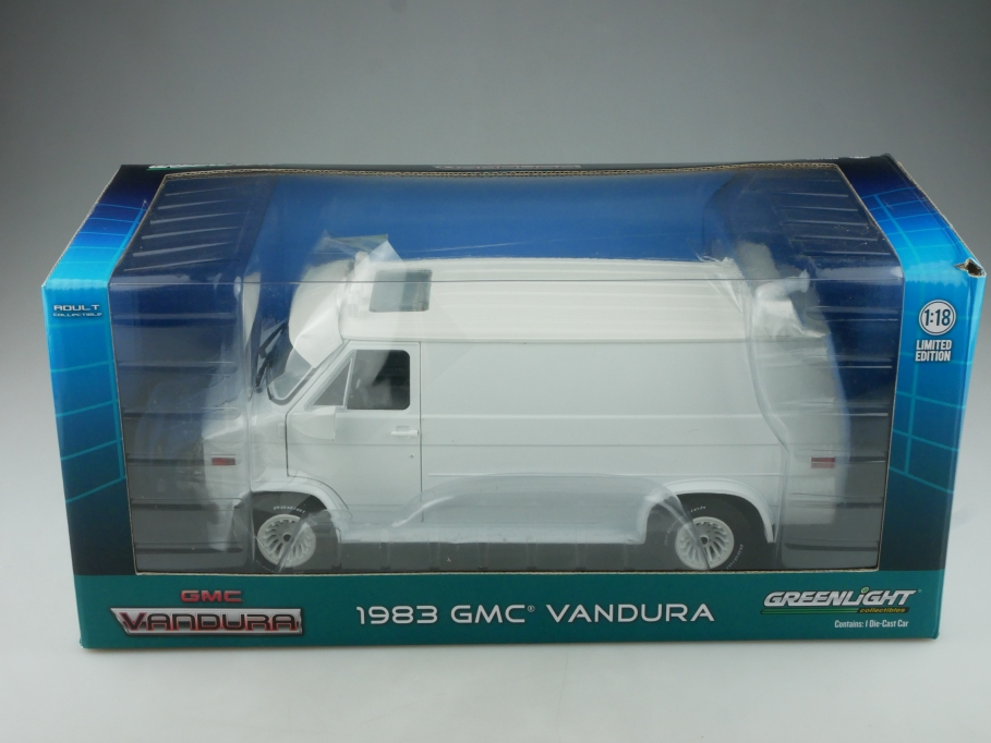 Greenlight 1/18 GMC Vandura Custom Van 1983 selten white mit Box 514564