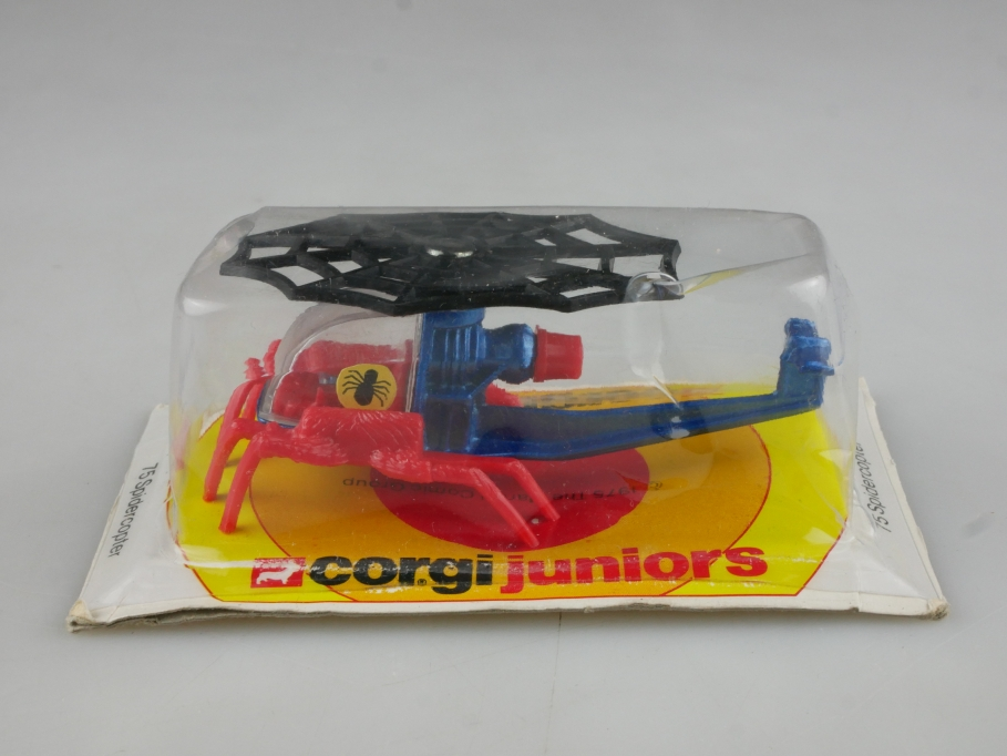 Corgi Juniors ca.1/87 Spidercopter Hubschrauber Spiderman mit Box 514569