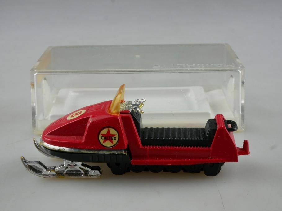 249 Majorette ca.1/43 Moto Neige Motorschlitten mit Box 514570