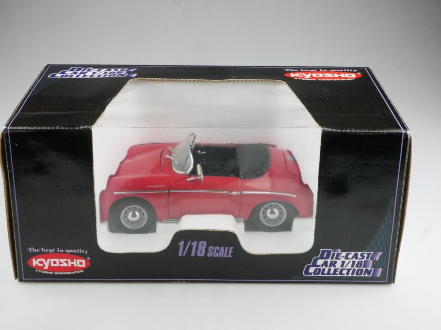 7007 Kyosho 1/18  Porsche 356 A 1600 Speedster Roadster mit Box  514584