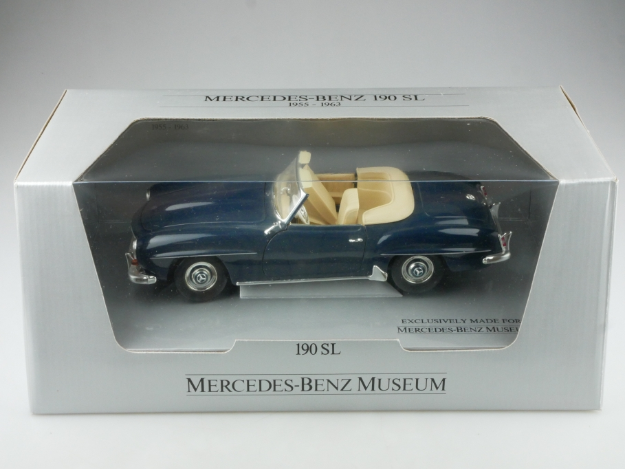 Ertl 1/18 Mercedes Benz 190 SL Roadster Händleredition darkblue mit Box  514585