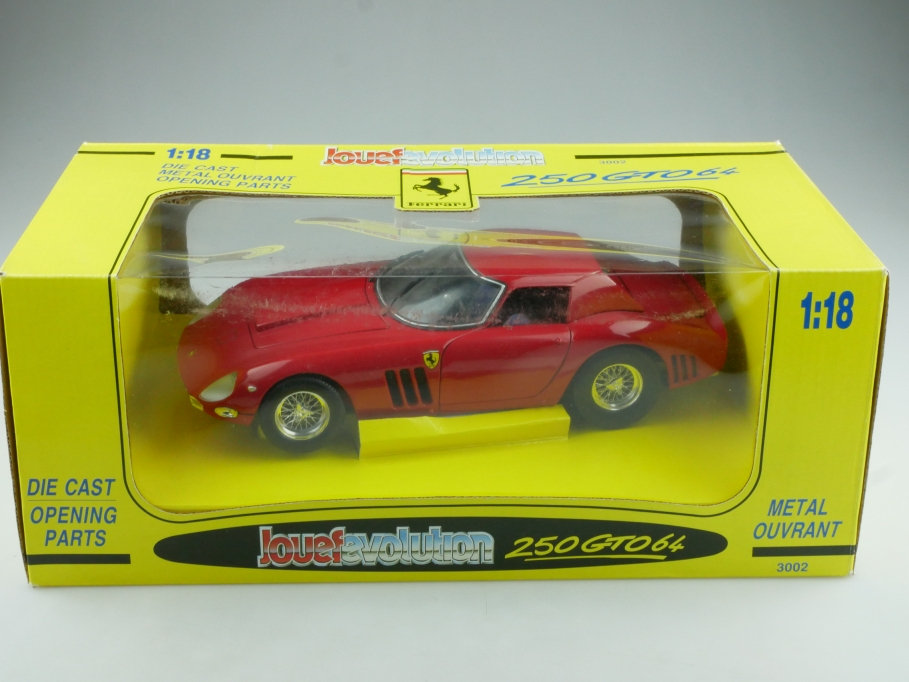3002 Revell 1/18 Jouef Evolution Ferrari 250 GTO Coupe 1964 red mit Box 514592
