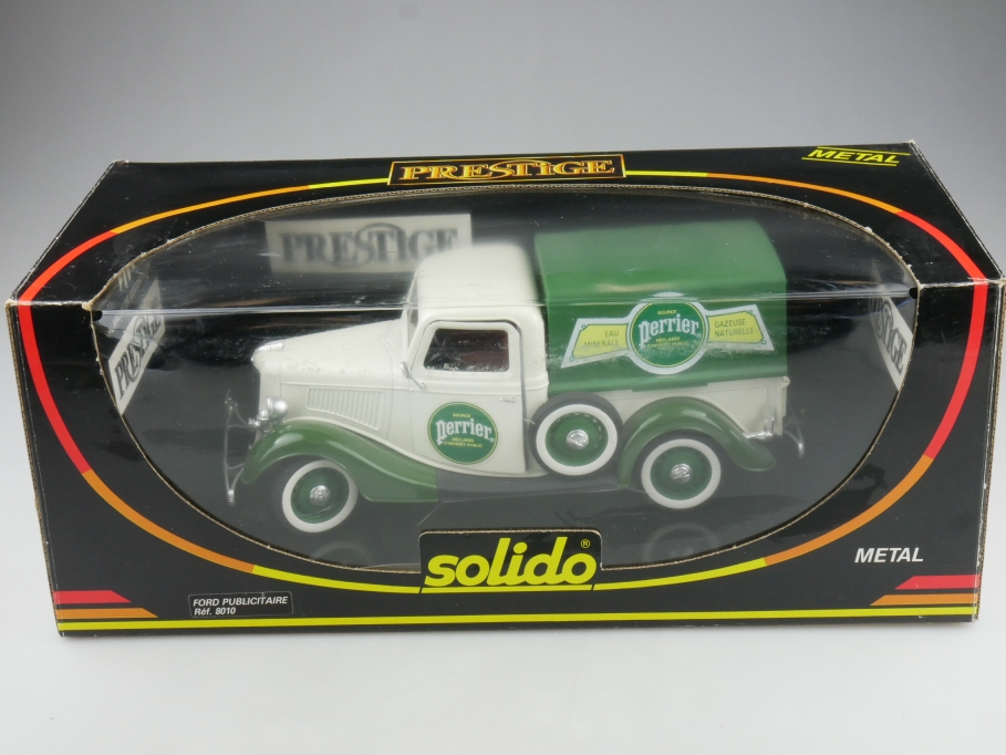 8010 Solido 1/19 Ford Pickup 1934 Publicitaire Perrier mit Box 514602