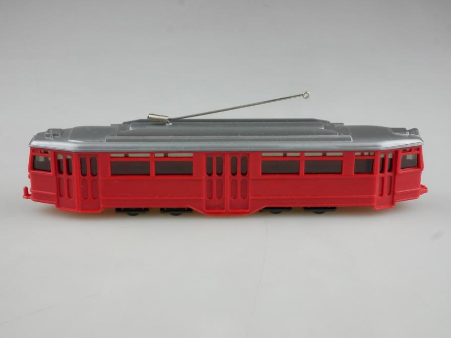 Saure 1174 Wiking 1/87 Straßenbahn Triebwagen rot silber ohne Box 514627
