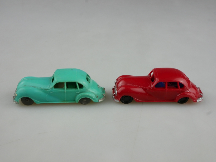 Herr 1/87 DDR EMW 340 Limousine Konvolut rot & türkis ohne Box 514628