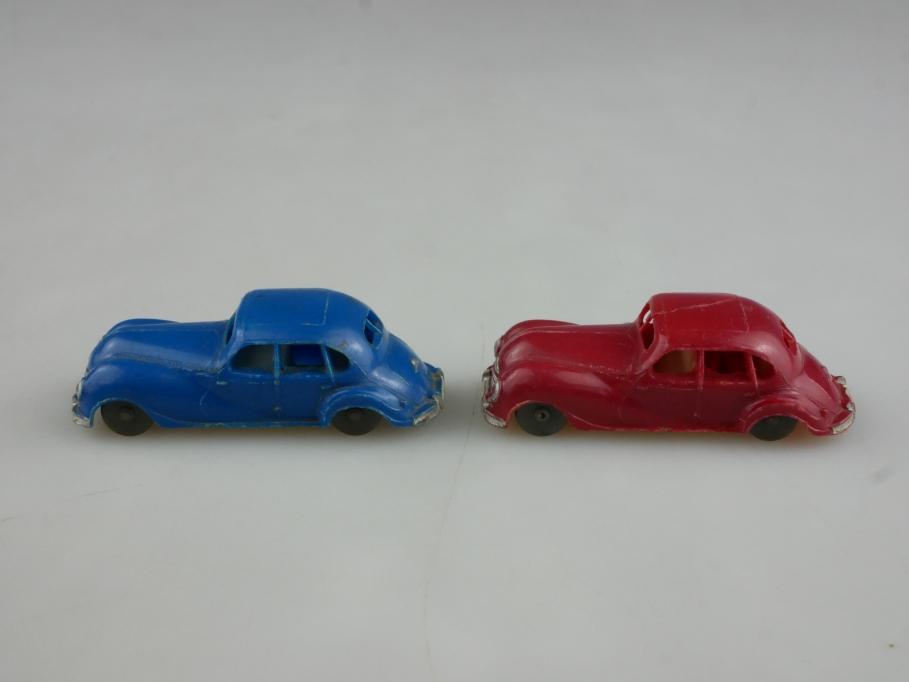 Herr 1/87 DDR EMW 340 Limousine Konvolut rot & blau ohne Box 514629