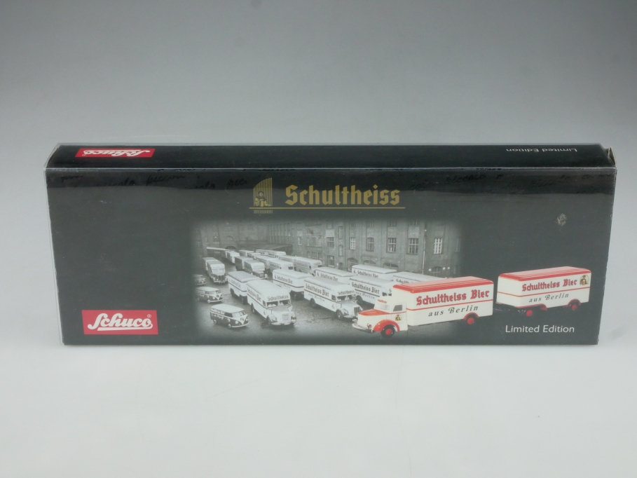 5763 Schuco 1/90 Piccolo-Set Schultheiss Bier Krupp Mustang mit Box 514667