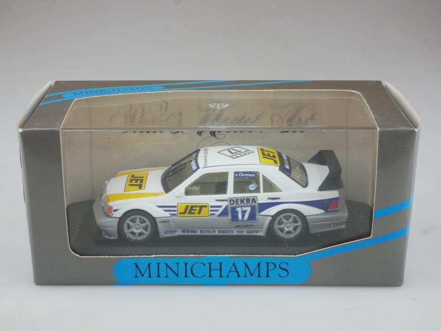 3121 Minichamps 1/43 Mercedes Benz 190 E Evo 2 DTM V.Ommen mit Box 514704