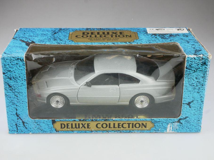 Die Cast 1/24 BMW 850i Coupe mit Klappscheinwerfer silver mit Box 514726
