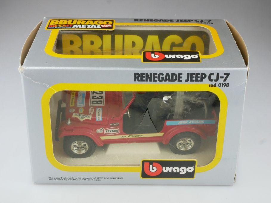 198 Bburago 1/24 Renegade Jeep CJ-7 Rallye Geländewagen mit Box 514727
