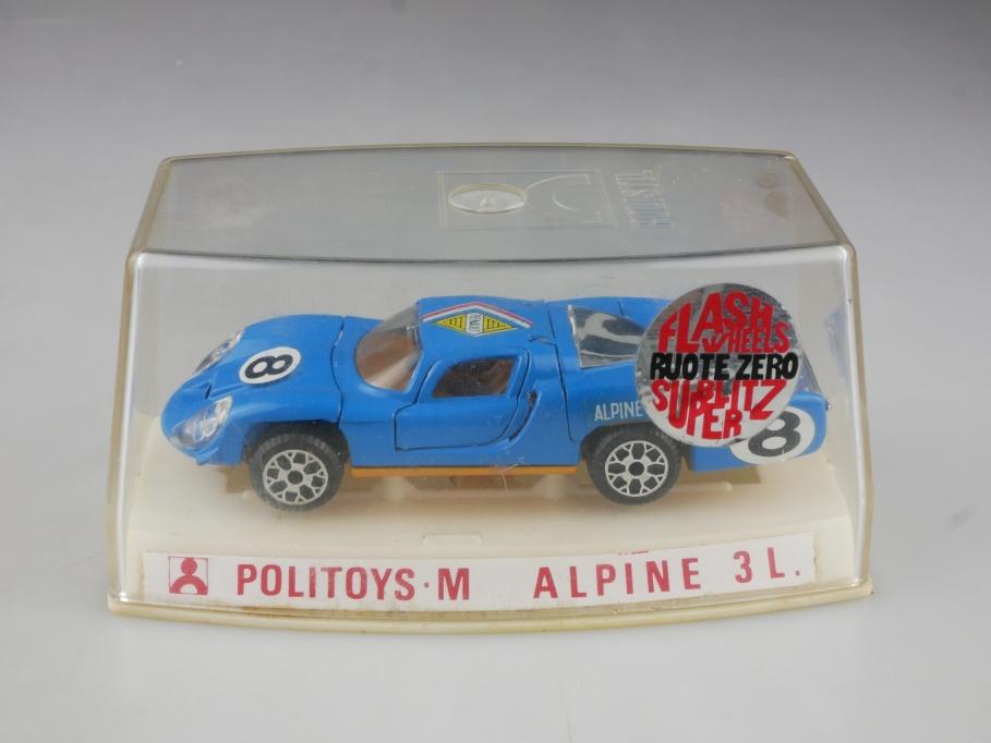 598 Politoys 1/43 Alpine Renault 3L Racer Flashwheels Ruote Sero mit Box 514730