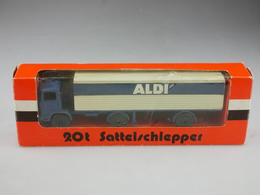 172 NZG 1/75 Mercedes Benz LPS 1113 20t Sattelschlepper Aldi mit Box 514744