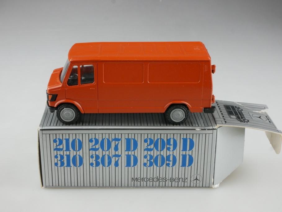 Conrad 1/50 Mercedes Benz 307-507 Lieferwagen korallenrot mit Box 514746