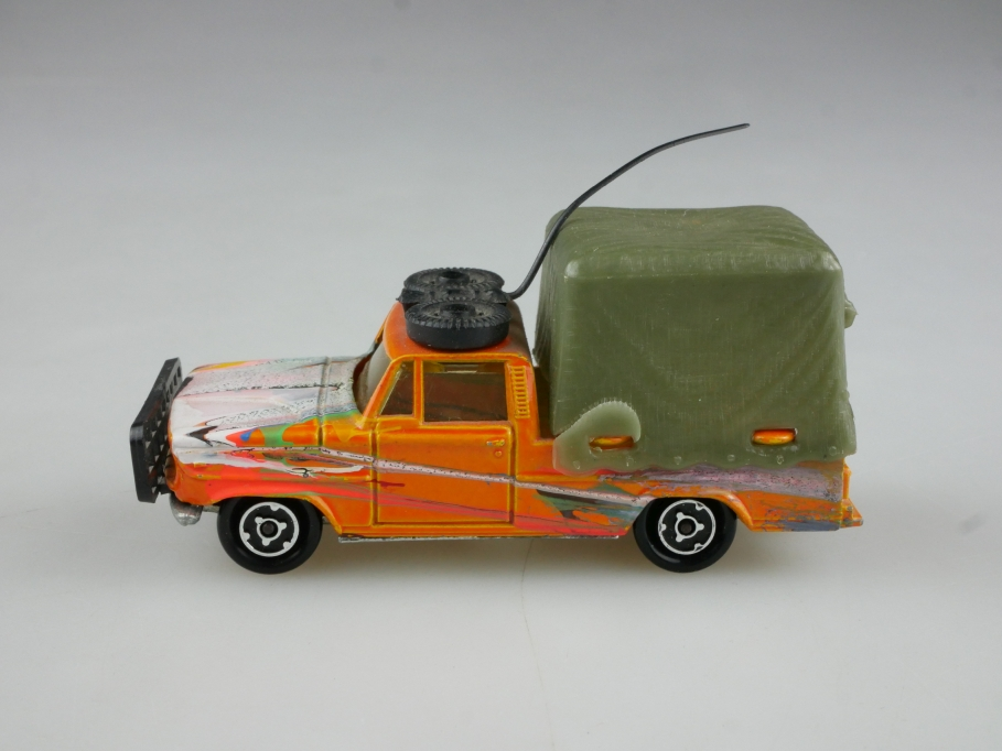 225 Majorette 1/80 Dodge Saviem Pick Up Safari ohne Box 514760