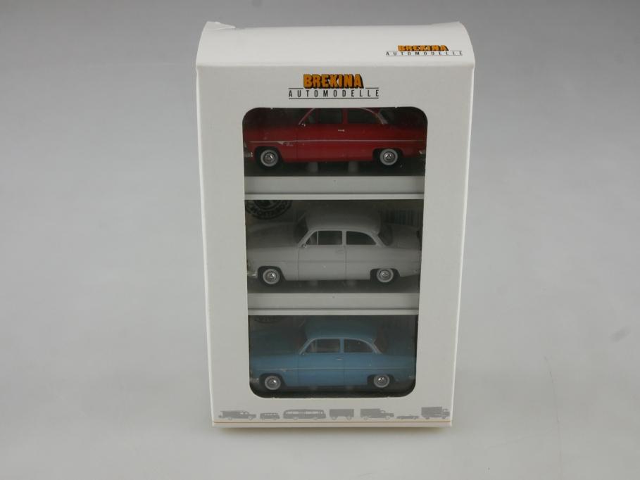 Brekina 1/87 Ford Taunus 12m G13 AL Streifentaunus Sonderedi.mit Box 514811