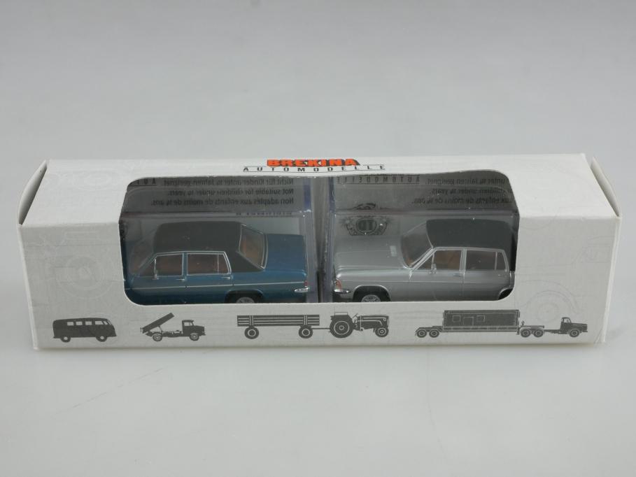 Brekina 1/87 Opel Diplomat B V8 silver & bluemetallic  Sonderedi.  Box 514813